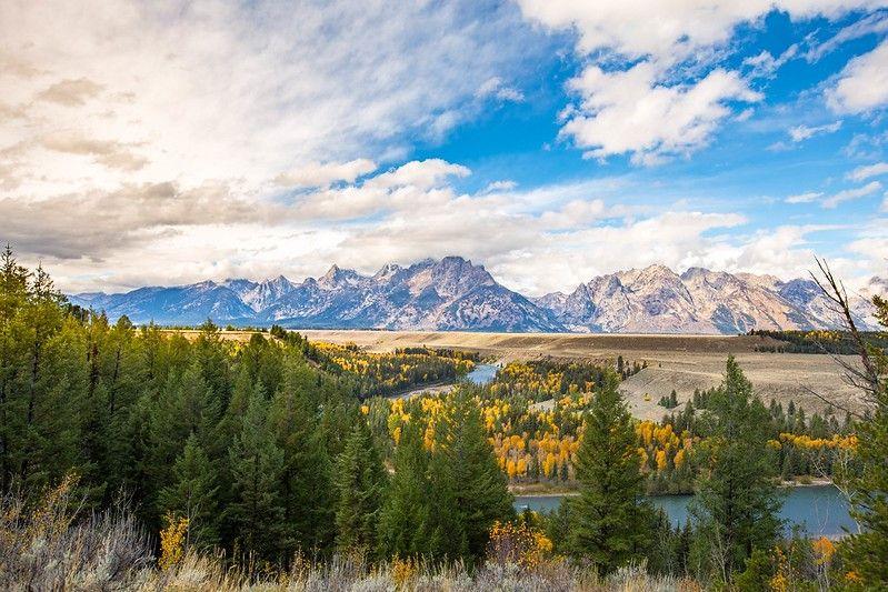 A look at the Teton Mountains.